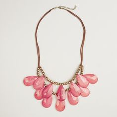 Berry Teardrop Suede Necklace | World Market