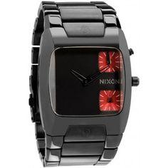 Watches :: Nixon Men Watches :: Nixon The Banks Gunmétal Vintage Watches For Men, Bracelet Cuir, Leather Watch Bands, Watch Brands, Sport, Luxury Watches, Modern Watches, Fashion Watches, Mens Fashion