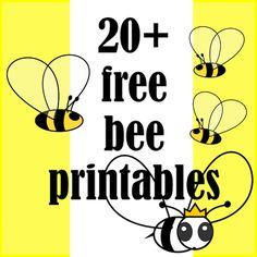☞ 20+ free bee themed printables - Bienen Druckvorlagen - links | MeinLilaPark