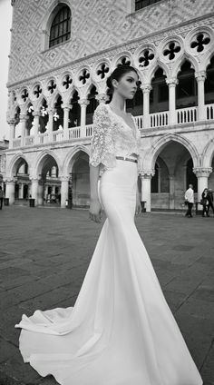 Inbal Dror Wedding Dress Collection ♥ We're starting off 2015 with a furious flurry of wedding dress fabulosity, bringing you yet another dose of droolworthy deliciousness! Today we fawn all over the smoking hot Inbal Dror Wedding Dresses from her Most Beautiful Wedding Dresses, Two Piece Wedding Dress, 2015 Wedding Dresses, Bridal Dresses, Wedding Gowns, Wedding Blog, Tulle Wedding, Mermaid Wedding, Wedding Ceremony