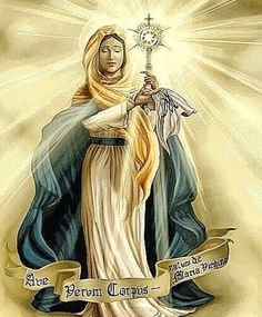 Mary Mother of the Church First monstrance And the most beautiful.  Because she is chosen by God  But we are all elected. And we can be like a monstrance. Be a dwelling place of God.