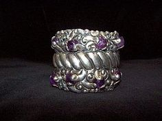 Rare Incredible Vintage Mexican Silver Ingrids Bracelet www.trocadero.com/stores/lookatthatnecklace Silver Jewelry, Vintage Jewelry, Sterling Sliver, Handmade Jewelry Bracelets, Mexican Jewelry, Bellisima, Blue And Silver, Amethyst, Bling