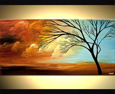 Pintura de árbol contemporáneo - azul paisaje pintura abstracta por Osnat. Este es un cuadro hecho por encargo, será similar al que ves aquí, que ya he vendido. Me tomará 5 días hábiles para crearlo. Voy a utilizar los mismos colores, composición. Si desea añadir o eliminar colores, también es posible. La pintura será firmado y listo para colgar. Nombre de la pintura: Thrive Tamaño: 48 x 24 Medio: Acrílico sobre lienzo envuelto Es siempre un certificado de autenticidad. Todos mis cuadr...