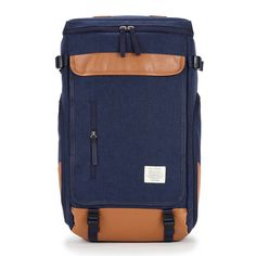 CRAZY BAG Mens Backpack -S. Korea Laptop School Bags, Front zip pocket, 15 inch Laptop Compartment, Top handle strap & Adjustable shoulder strap