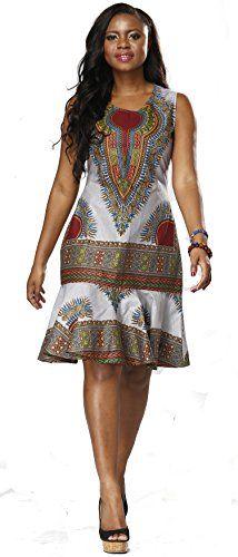 Shenbolen Woman African Print Dress Dashiki Traditional Dress Party Dresses (XX-Large, A) African Inspired Fashion, Latest African Fashion Dresses, African Dresses For Women, African Print Dresses, African Fashion Designers, African Print Fashion, Africa Fashion, African Attire, African Wear