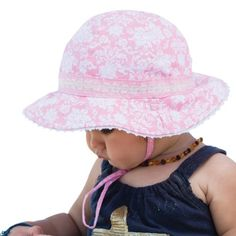 1b7f79a47cf Millymook Baby Girls Reversible Cotton Maya Pink Floppy Sun Hat UPF50+  (12-24 Months