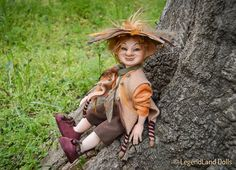 Hobgoblin doll Herold art doll autumn decoration #doll #goblin