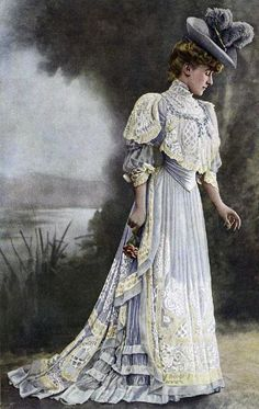 A Quick Guide To The Century Fashion Fashion, fashion history, la belle epoque, … Edwardian Era Fashion, 1900s Fashion, Edwardian Dress, 19th Century Fashion, Vintage Fashion, Edwardian Style, Fashion Fashion, Victorian Era Dresses, Paper Fashion