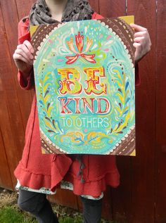 Be Kind - Large Format. $24.00, via thewheatfield on Etsy.