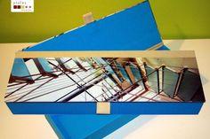hand made. graphic collection. an anchitectural feature turns into a graphic element  caixa feita à mão. Cartonagem