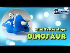 mini Triceratops (Dinosaur) - Polymer Clay TUTORIAL (Fimo) - YouTube
