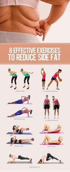 8 Effective Exercises To Reduce Side Fat of Waist.