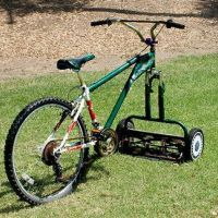 Now this is the way to mow lawns manually!