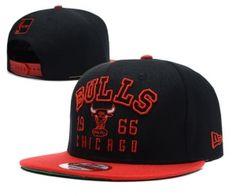 Casquette NBA Chicago Bulls Snapback Noir Rouge : Casquette Pas Cher