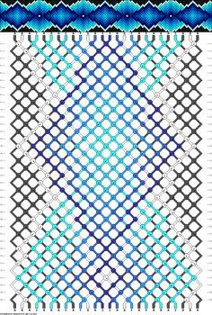 Muster # 63448, Streicher: 26 Zeilen: 36 Farben: 9