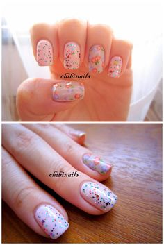 these nails remind me of a birthday cake!