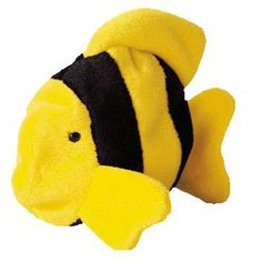 Bubbles the Fish - Ty Beanie Baby [Toy]: Mint condition! This card would make a great addition to anyone's collection. Kids Toy Store, New Kids Toys, Beanie Buddies, Ty Beanie, Rare Beanie Babies, Bubble Fish, Yellow Fish, Buy Toys, Toy Sale