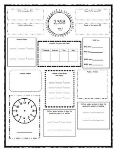 NUMBER OF THE DAY FOR 3RD AND 4TH GRADE COMMON CORE STANDARDS - TeachersPayTeachers.com
