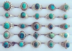 Sterling silver turquoise gemstone rings all genuine materials!! Ranging from $16 to $23 USD & we ship worldwide for only $2 USD ✈️✨ #turquoise #gemstone #gemstonerings #gemstonejewelery #boho #bohorings #gypsyrings #bohemianjewelry #gypsyvibes #bohovibes #hippievibes