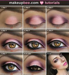 Beautiful romantic makeup for valentines date