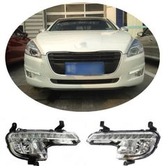 (284.05$)  Watch more here - http://ai2w1.worlditems.win/all/product.php?id=1788270462 - Complete Whole Set Fog Turn Light Daylight Running Light LED DRL for Peugeot 508