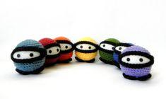 Amigurumi toy pattern Rainbow Ninja Crochet by TGLDdoll on Etsy