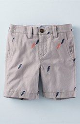 Mini Boden Patterned Cotton Twill Chino Shorts (Toddler Boys, Little Boys & Big Boys)