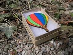 Wooden Hot Air Balloon Hand Painted Laser Cut by CandyDesignsUK, £6.00