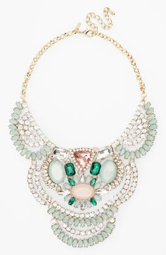 This pastel rhinestone statement necklace is perfect for winter.