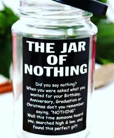 The ultimate jar of nothing. #birthday#giftbox#gift#chocolates#minicards#photos#customizable#wife#girlfriend#bestfriend#boyfriend#husband#hubby#love#handmade#valentines#sarahscreativeworld.