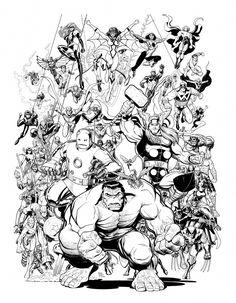 Arthur Adams CLASSIC AVENGERS #1 cover Comic Art