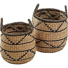 Demonstrate classic tribal-inspired style in your space with the contrast patterning of the Mui Basket (Set of from Amalfi. Amalfi, Wicker Baskets, Your Space, Classic, Pattern, Contrast, Inspiration, Inspired, Home Decor
