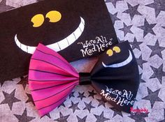 Alice in Wonderland Cheshire Cat  Hair bow  unique handmade fabric kawaii Hair bow