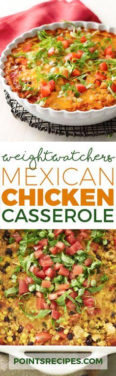 Mexican Chicken Casserole (Weight Watchers SmartPoints)