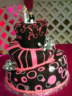 Black & Pink Wedding Idea - California Weddings At:  http://www.FresnoWeddings.Net/