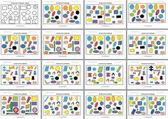#tdah diferencias entre conjuntos formas tamaño y colores