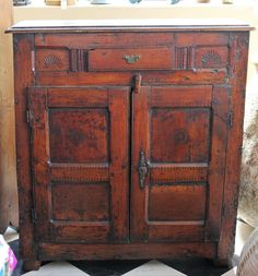Antique French Storage Cabinet on Chairish.com