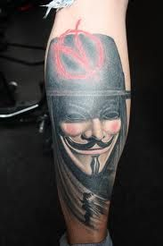 This is perfect for the V for Vendetta sleeve I want to get, but I will just add roses and a quote.