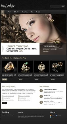 Template 39984 - Royal Jewelry Joomla Template