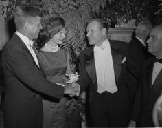 John F. Kennedy and Jacqueline Kennedy at the Alfred E. Smith Memorial ...