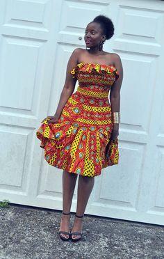 Off the Shoulder Eye Dress - Jewel and Lotus African Fashion Ankara, Latest African Fashion Dresses, African Print Fashion, Africa Fashion, Moda Afro, Kente Dress, Short African Dresses, Style Africain, Kente Styles