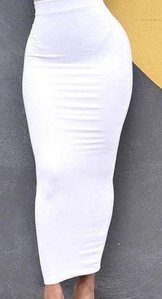 RDevine Casual- High Waist Long Pencil Skirt