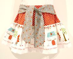 LIttle red riding hood skirt and cape tutorial from Fabric Pixie