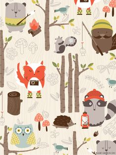 Idea - woodland theme. Have students contribute the illustrations. We do a call for artwork at our school. You do a handout and specify size, colors, media to use, style, and deadline to turn in art. Scan your entries or have them digitized.