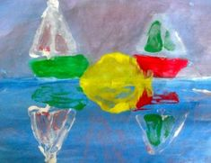 Deep Space Sparkle – Monoprint Art Lesson reflection and symmetry