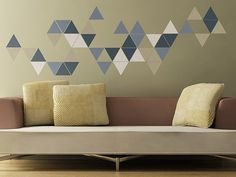 Geometric Triangles Wall Stickers | The Binary Box