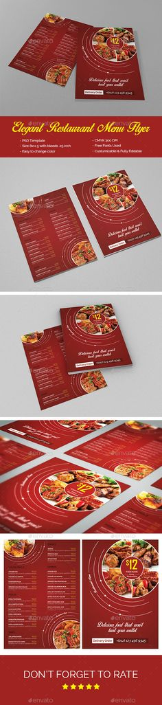 Special Food Menu Flyer Food menu, Print templates and Menu - menu flyer template