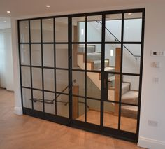 Stunning internal Crittall screen by Lightfoot Windows (Kent) Ltd with fire rated glass.