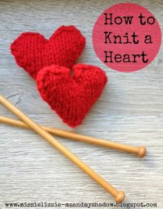 Visit  http://www.redtedart.com/2014/01/31/valentines-decorations-knitted-hearts/   Find more EASY Knitting Patterns here: http://www.redtedart.com/category/knitting/ for How to