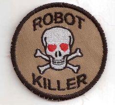 Robot Killer Merit Badge Patch